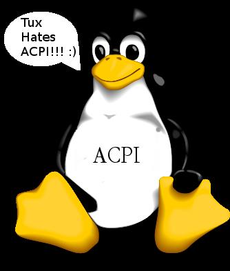 Linux TUX ACPI logo / Tux Hates ACPI logohttps://www.pc-freak.net/images/linux_tux_acpi_logo-tux-hates-acpi.png