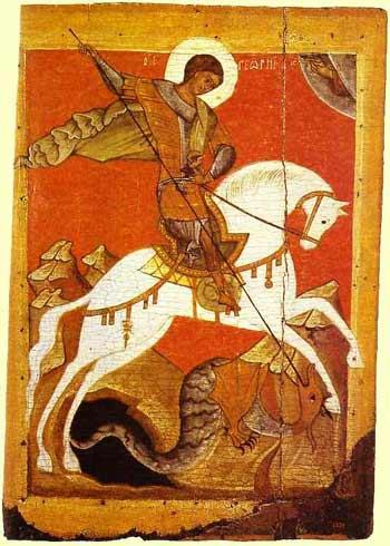 Saint Georgius the Dragon Slayer icon XII century orth icon