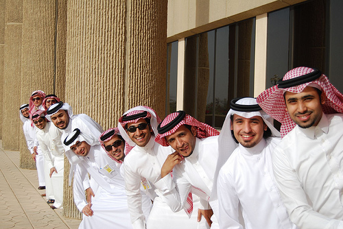 Dubai man with Thobes in order smiling ;)