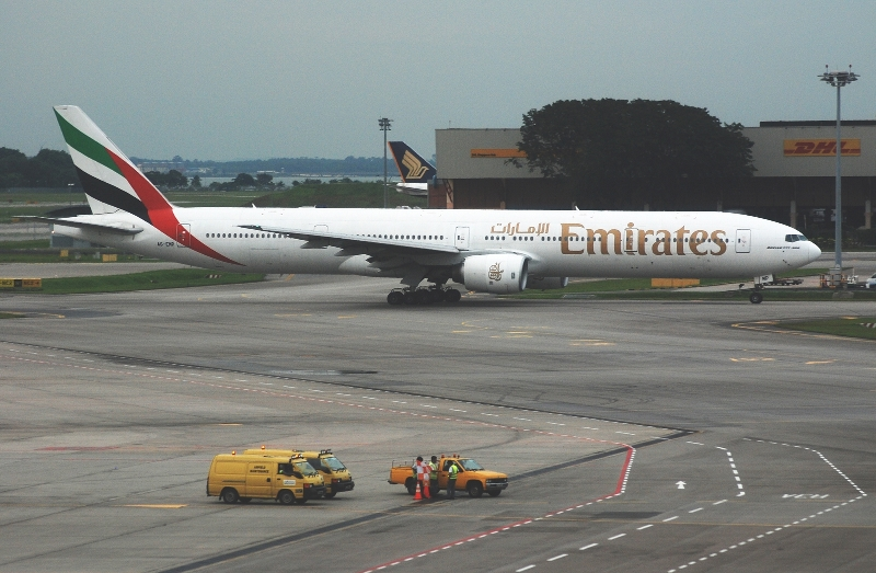 Emirates Boeing 777 nice airplane