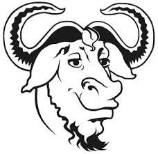 GNU GNU is not UNIX project logo - Happy Birthday GNU
