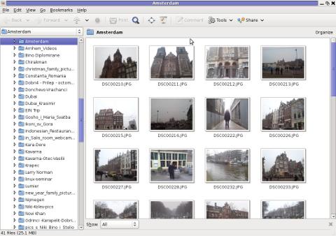 Gthumb Debian Linux Squeeze Screenshot