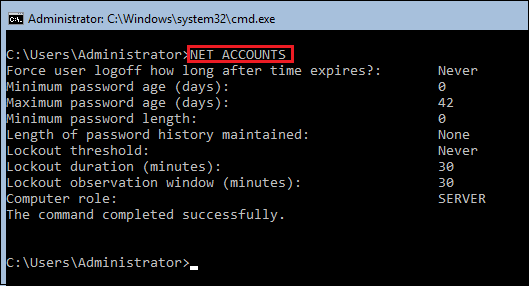 NET-ACCOUNTS-view-default-Microsoft-Windows-password-policy