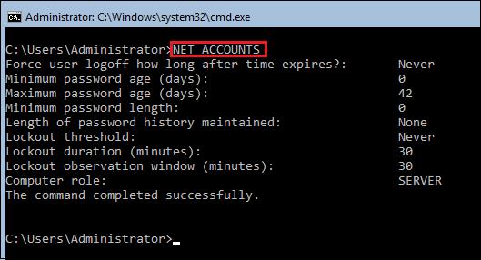 NET-ACCOUNTS-view-default-Microsoft-Windows-password-policy