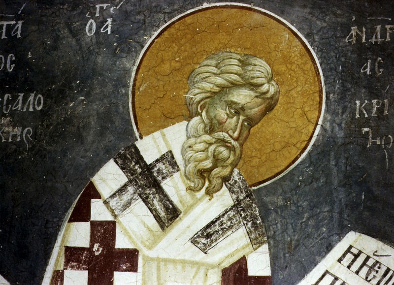 Saint-Andrew-of-Crete-wall-painted-icon
