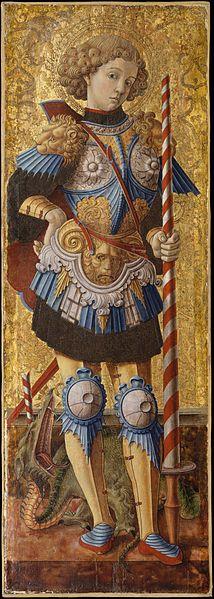 Saint Martyr George from Lydda Palestine Carlo Crivelli - Italian Master 14th century