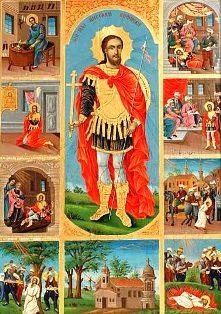 Saint_Nikolay_Sofijski-living-and-martyrdom-scenes-icon-painting