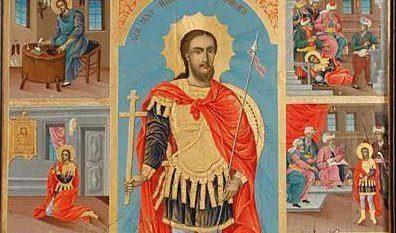 Saint_Nikolay_Sofijski-martyrdom-scenes-icon-painting