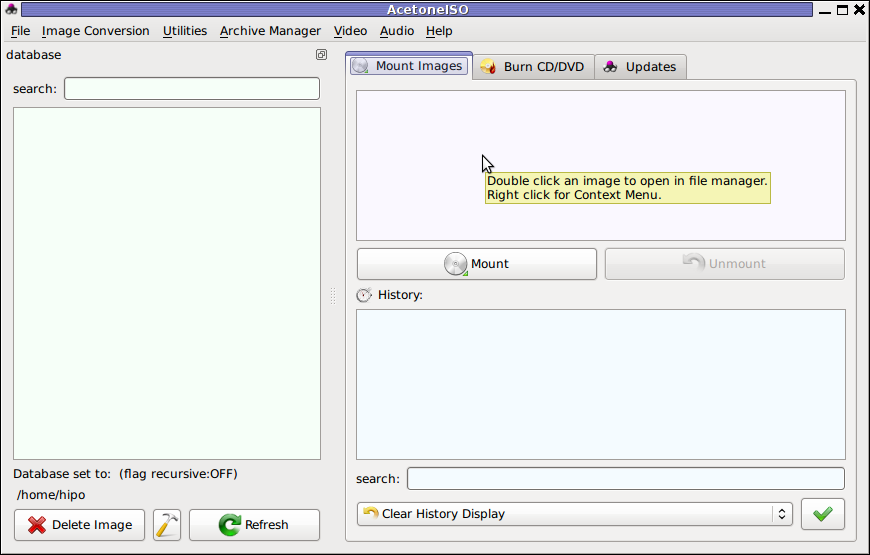 Screenshot Furius ISO Mount Tool Debian GNU/Linux ScreenShot