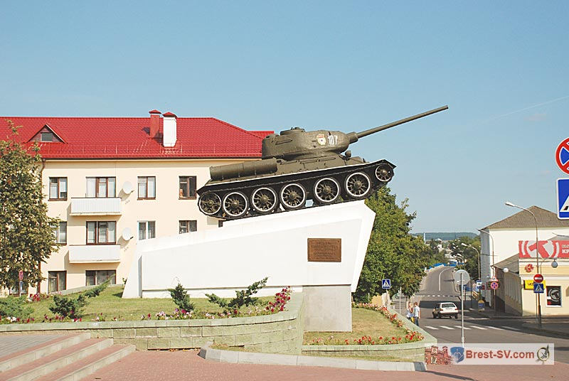 Slonim-city-center-tank