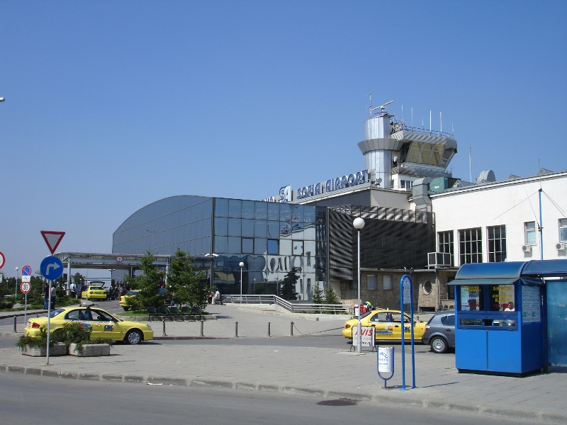 Sofia Airport long distance view