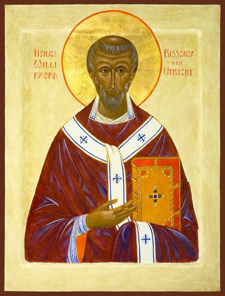 Saint Willibrord Orthodox saint of Utrecht heilige van Utrecht, a saint who lived near Arnhem,  Holland