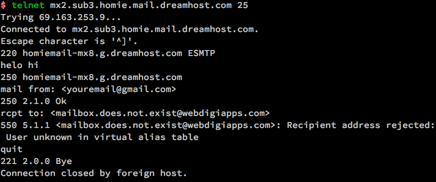 Terminal-Verify-existing-Email-with-telnet