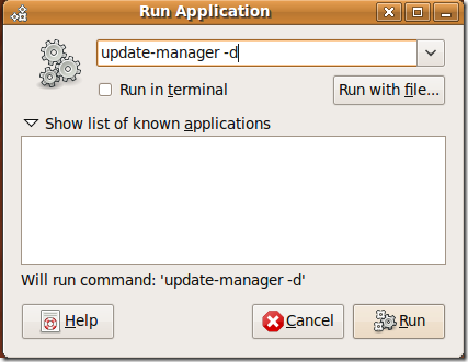 Update Manager Ubuntu