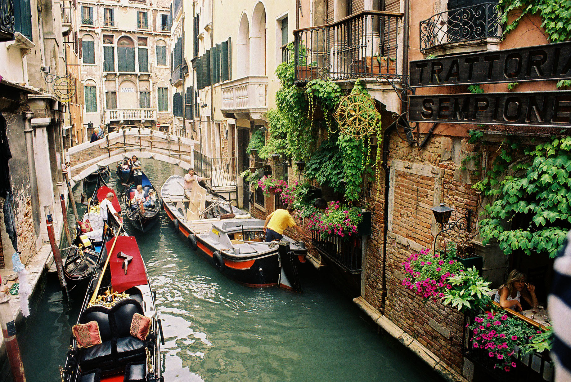 Venice-Italy-beautiful-street-with-a-boat