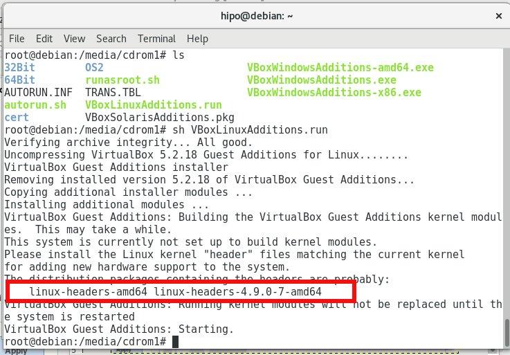 VirtualBox-VBoxLinuxAdditions-run-script-missing-headers-gcc-perl-how-to-fix