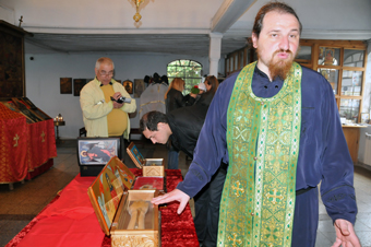Abbot of Pomorie Monastery Father Ierotei and holy relics of st. Macrina