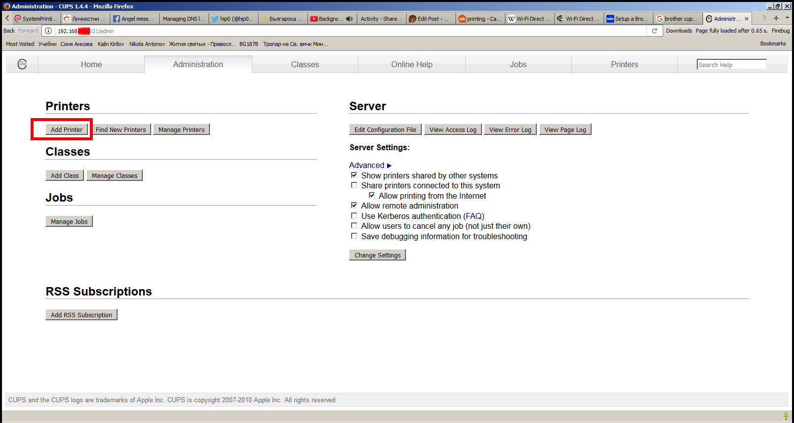 add-a-new-printer-cups-web-admin-interface-screenshot-in-a-firefox-browser