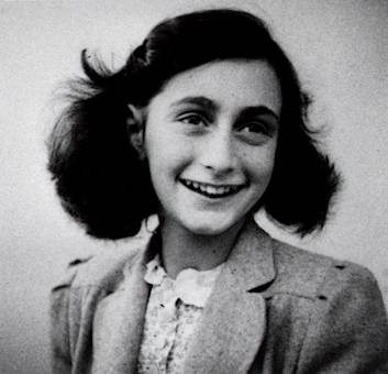 Anne Frank black and white picture