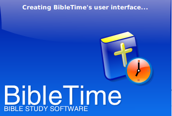 Libletime Holy Bible read in KDE Linux  reading tool launch screen