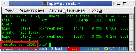 Change hostname on Debian and Ubuntu Linux terminal hostname screenshot