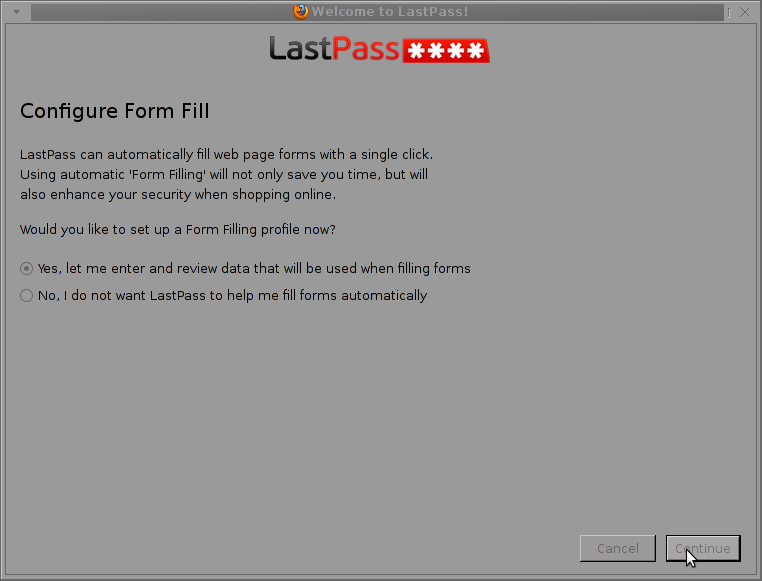 configure form fill automatic form filling lastpass screenshot automatically fill web page forms in Firefox