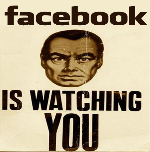 Facebook is watching you the big brother facebook funny caricature