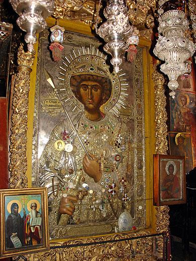 Saint Georgi Fanuilska Zographus Bulgarian Monastery miracle making icon