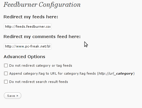 FD Feedburner plugin