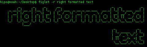 figlet ascii art banner right formatted ascii art text debian linux generator