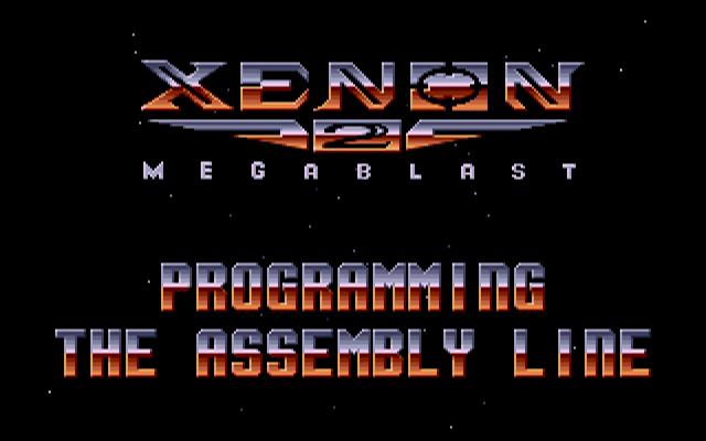 Xenon2 Main game Screen PC DOS ver