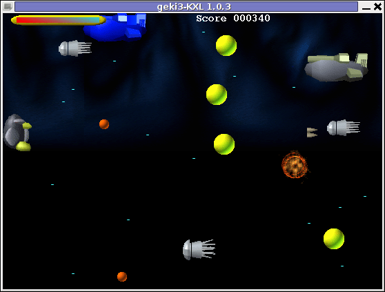 Geki3 gameplay screenshot Debian Linux