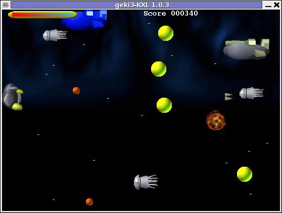 Geki3 gameplay screenshot Debian Linux