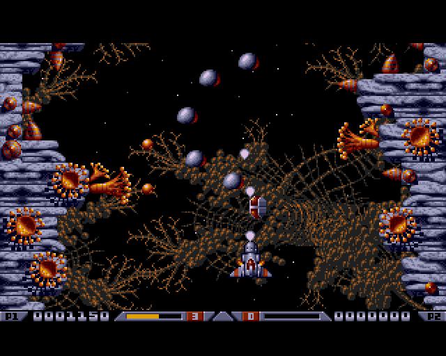 Xenon 2 megablast PC DOS level screenshot