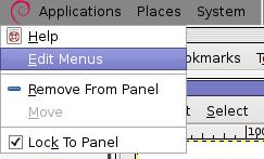 GNOME Edit menus screenshot