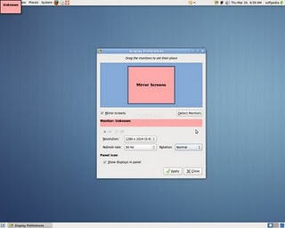 Gnome System Preferences Monitors Nvidia GeForce 5500 Ubuntu