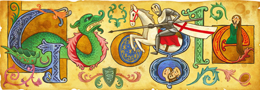 United KIngdom patron saint George Google logo medieval picture
