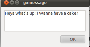 GxMessage Gnome message Screenshot