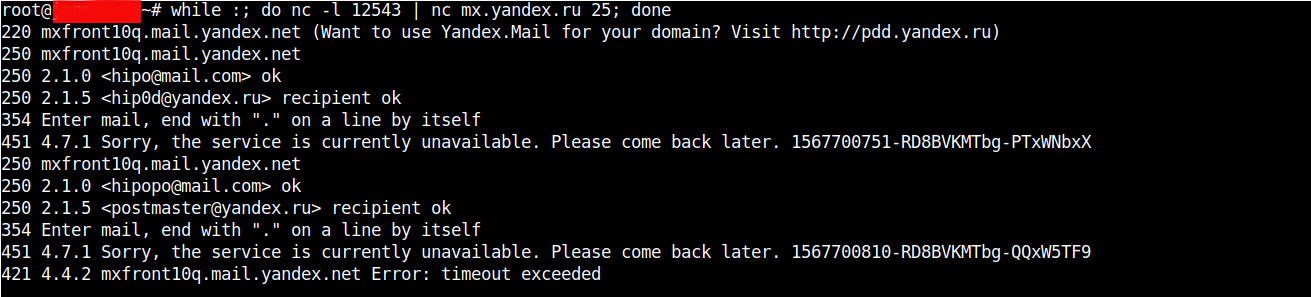 host-B-running-as-a-proxy-daemon-towards-Host-C-yandex-mail-exchange-server