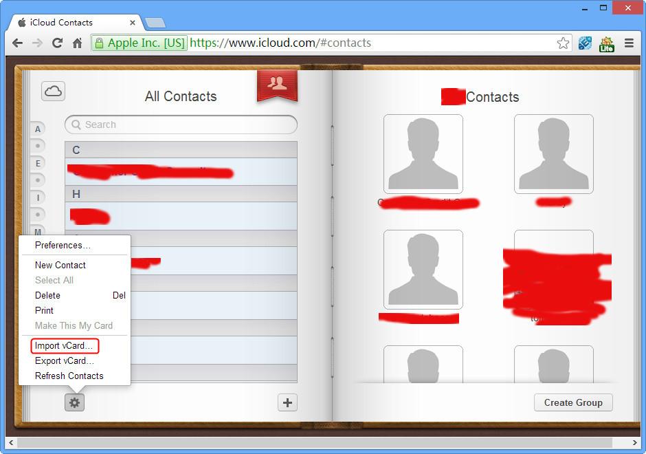 import-vcard-to-icloud-screenshot