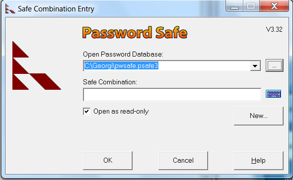 Keep multiple passwords safe in Microsoft Windows 7 passwordsafe with masterpassword
