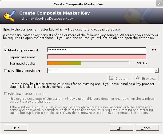 keepass2 Linux gui password manager screenshot Debian - graphic manager for storing passwords