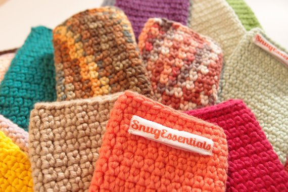 new business idea manual hand crafted knitted mobile device cases
