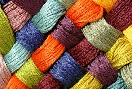 yarn in different colors the base material for knitting