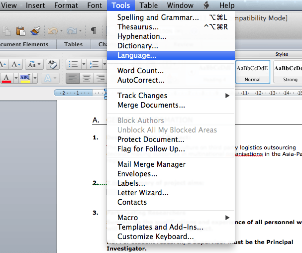 language-menu-on-mac-os-x-microsoft-word-office-2011-package-screenshot