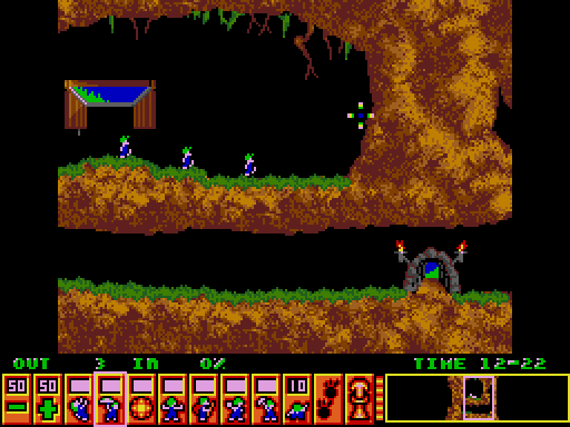 Lemmings arcade screenshot
