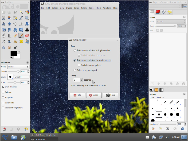 linux-screenshot-gimp-create-screenshot-of-expanded-menus-in-gnome-kde-on-linux-bsd