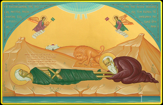 lion-burying-the-body-of-saint-mother-Mary-of-Egypt