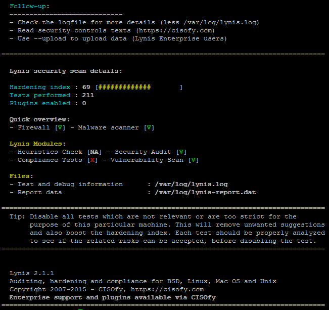 lynis-scanned-server-for-rootkit-summer-results-linux-check-for-backdoors-tool