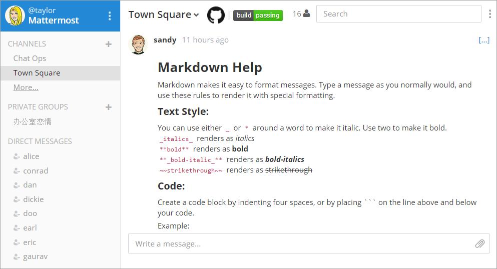 mattermost-markdown-help-linux-screenshot